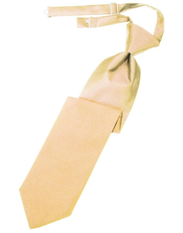 Peach Luxury Satin Kids Necktie