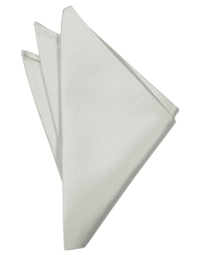 Platinum Luxury Satin Pocket Square
