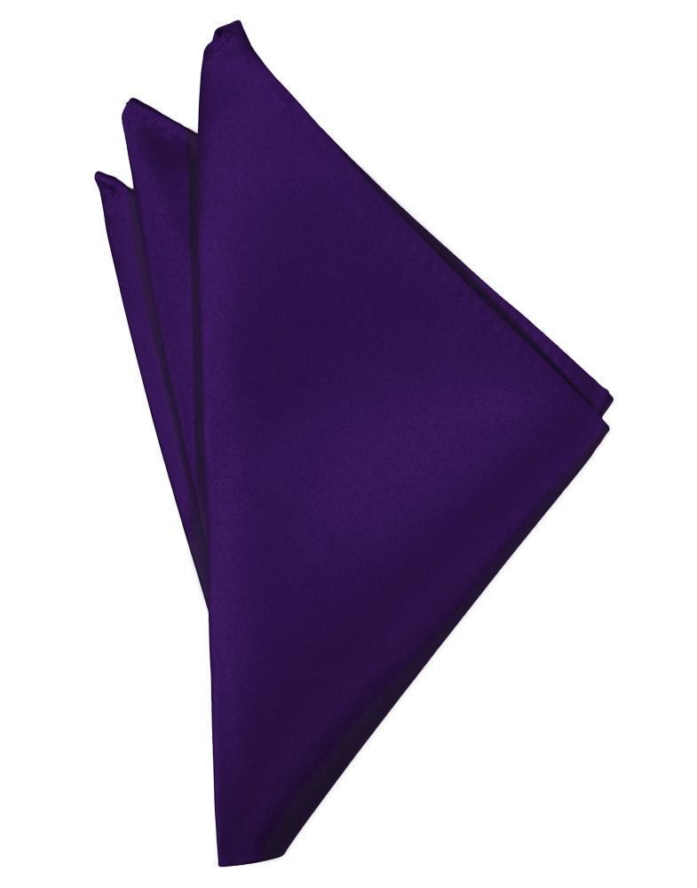 Purple Luxury Satin Pocket Square