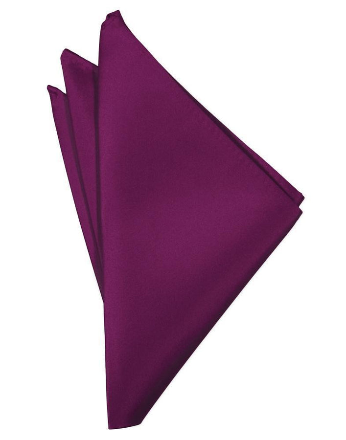 Sangria Luxury Satin Pocket Square
