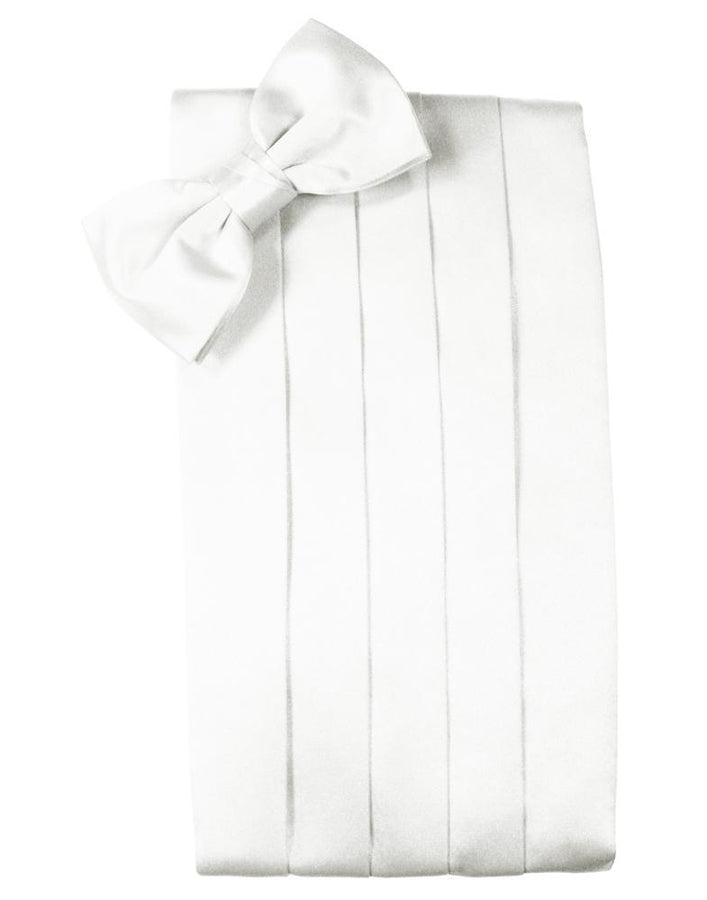 White Luxury Kids Satin Cummerbund