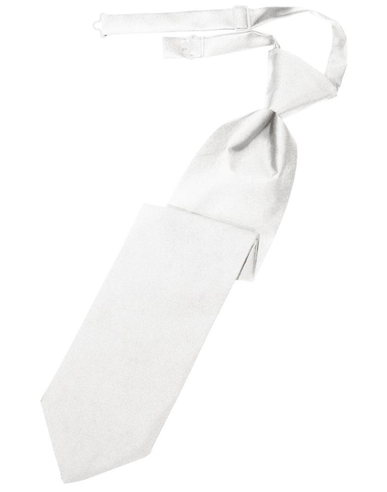 White Luxury Satin Kids Necktie