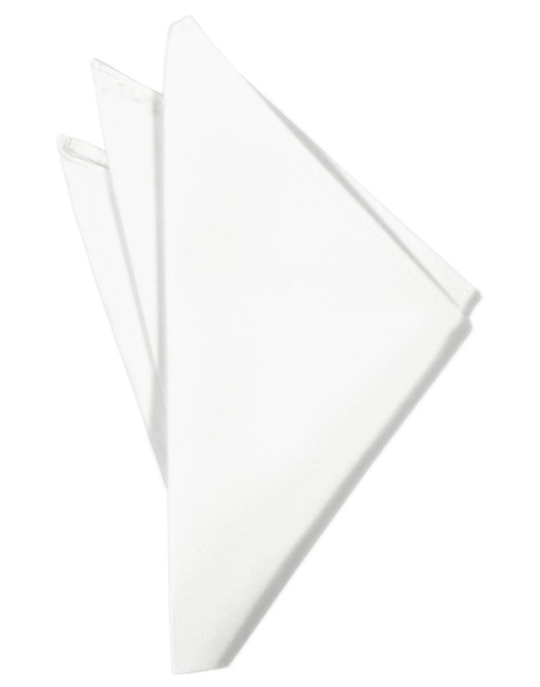 White Luxury Satin Pocket Square