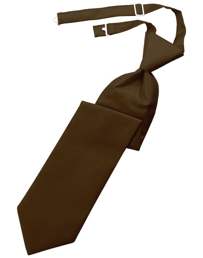 Chocolate Solid Twill Kids Necktie