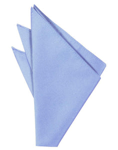 Cornflower Solid Twill Pocket Square