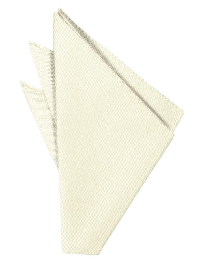 Ivory Solid Twill Pocket Square