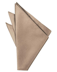 Latte Solid Twill Pocket Square