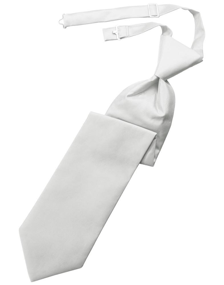 Platinum Solid Twill Kids Necktie