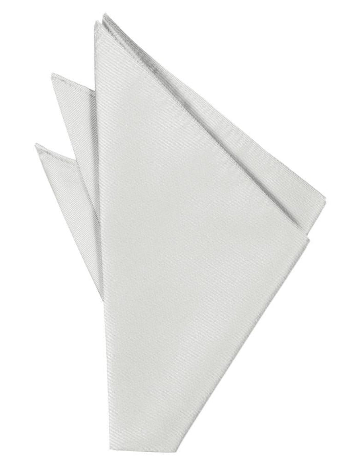 Platinum Solid Twill Pocket Square