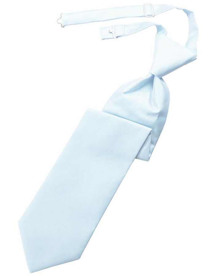 Powder Blue Solid Twill Kids Necktie