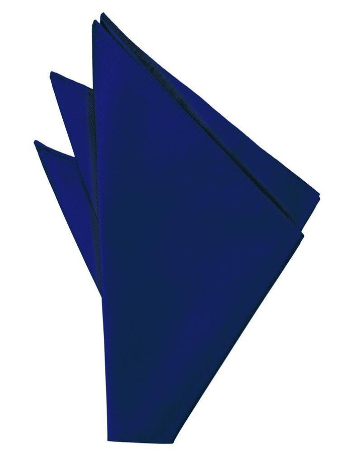 Royal Blue Solid Twill Pocket Square
