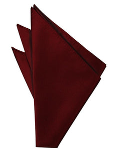 Wine Solid Twill Pocket Square