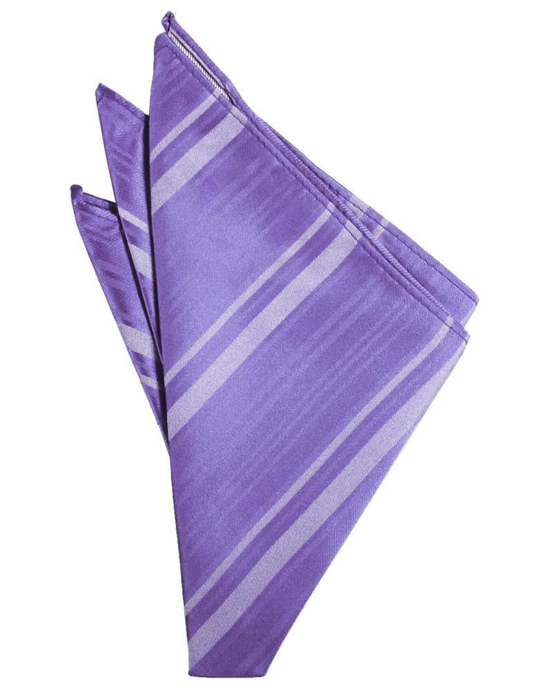Freesia Striped Satin Pocket Square