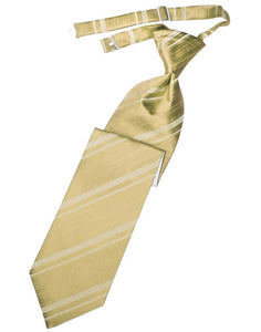 Harvest Maize Striped Satin Kids Necktie