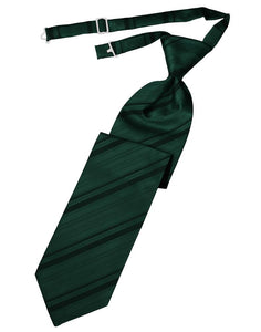 Holly Striped Satin Kids Necktie