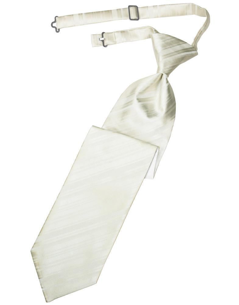 Ivory Striped Satin Kids Necktie