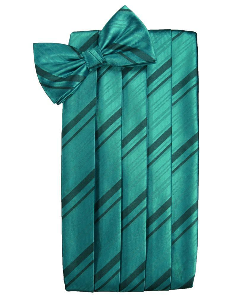 Jade Kids Striped Satin Cummerbund