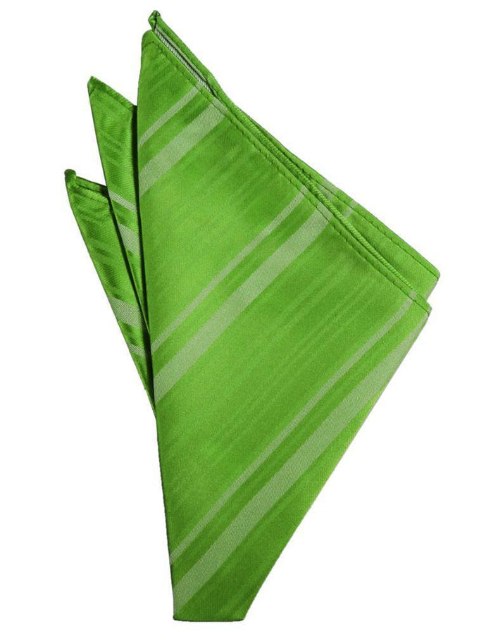 Kelly Striped Satin Pocket Square