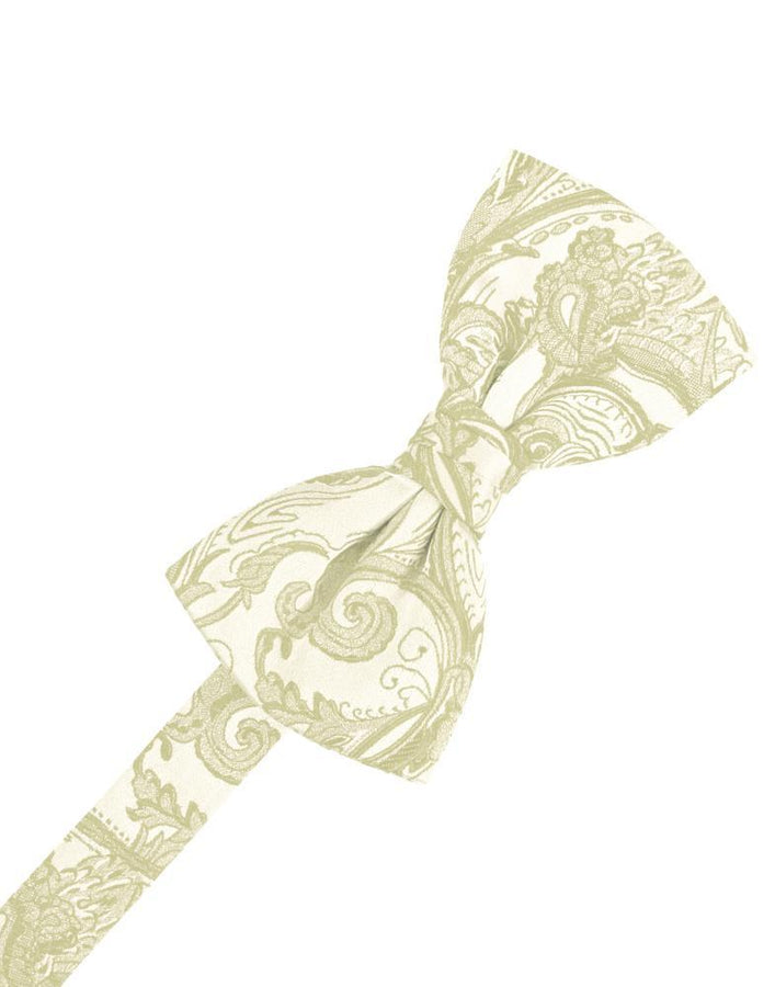 Ivory Tapestry Kids Bow Tie