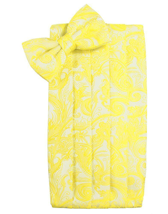 Lemon Tapestry Kids Cummerbund