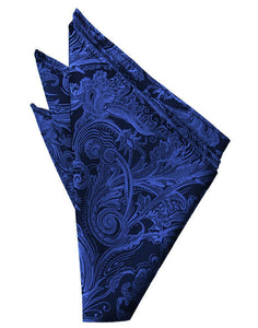 Royal Blue Tapestry Pocket Square