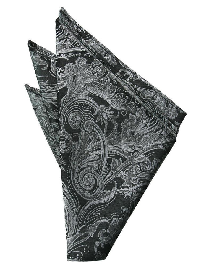 Silver Tapestry Pocket Square