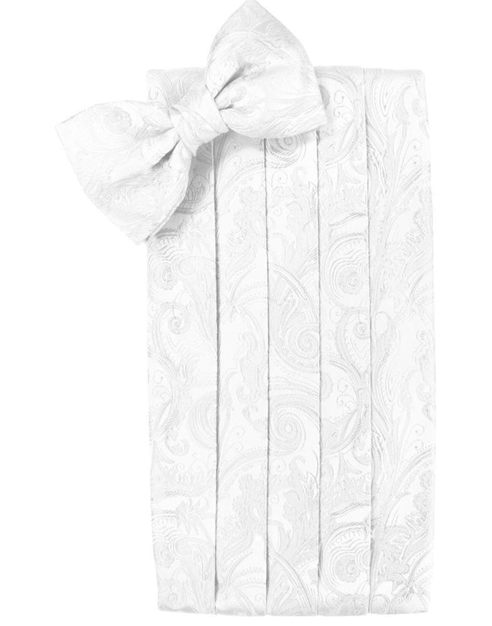 White Tapestry Kids Cummerbund