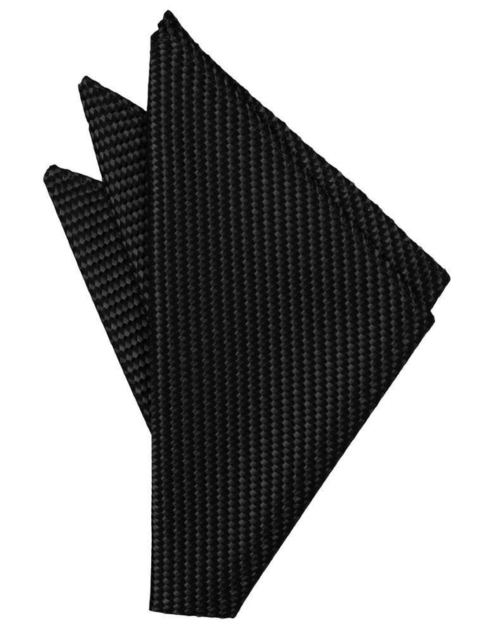 Black Venetian Pocket Square