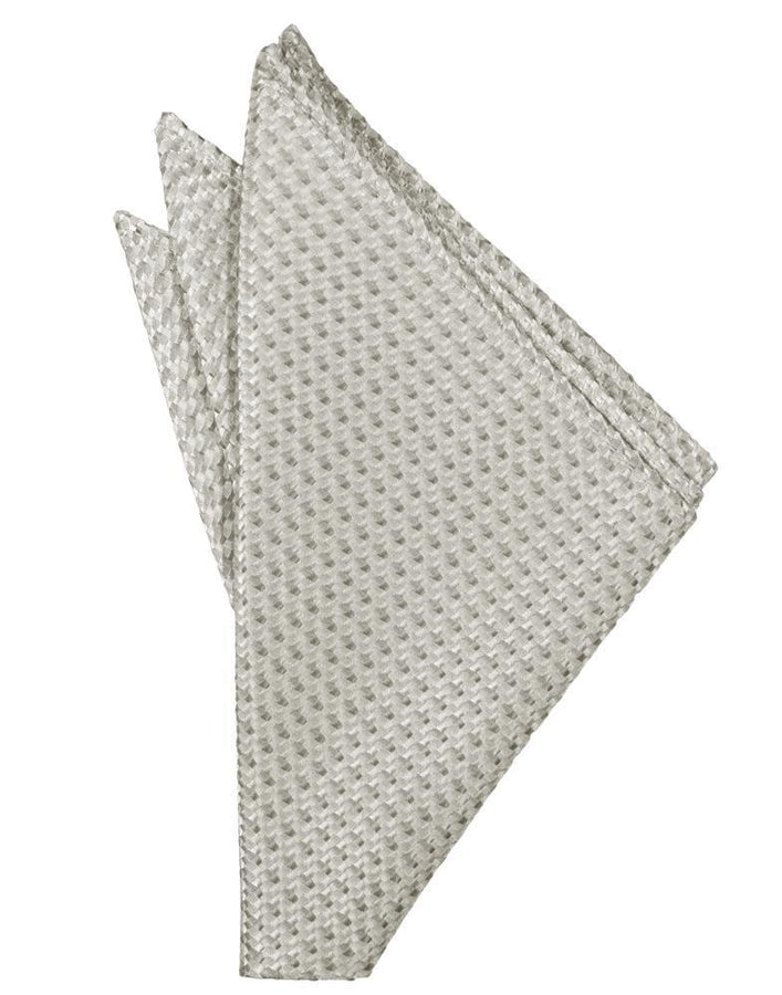 Platinum Venetian Pocket Square