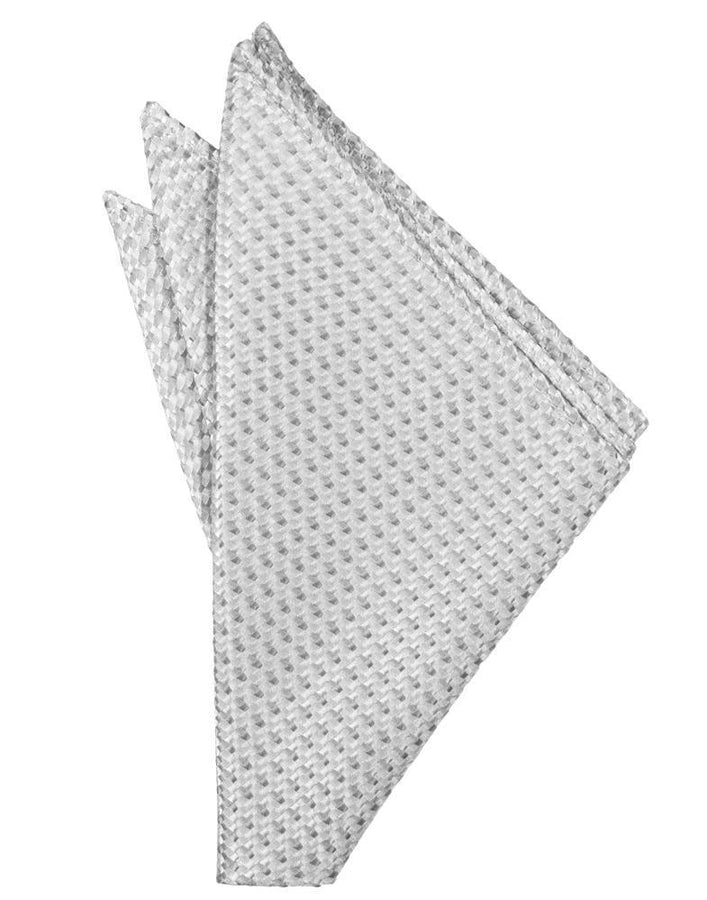 Silver Venetian Pocket Square