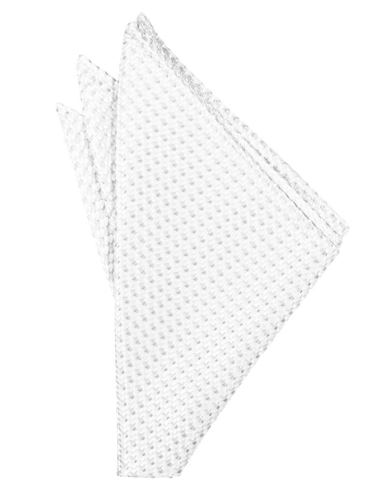 White Venetian Pocket Square