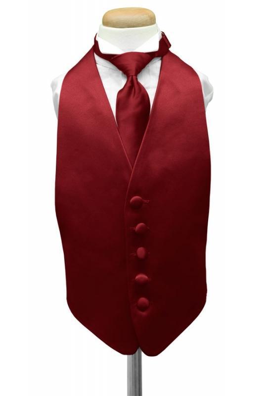 Apple Luxury Satin Kids Tuxedo Vest