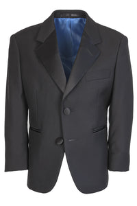 """Barcelona"" Kids Black Tuxedo Jacket (Separates)"