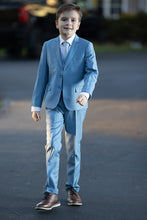 "Load image into Gallery viewer, ""Premium"" Kids Light Blue 5-Piece Wool Blend Suit"