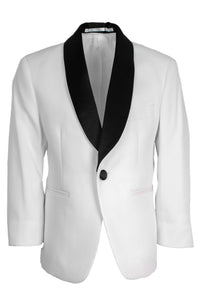 """Bradford"" Kids White Tuxedo Jacket (Separates)"