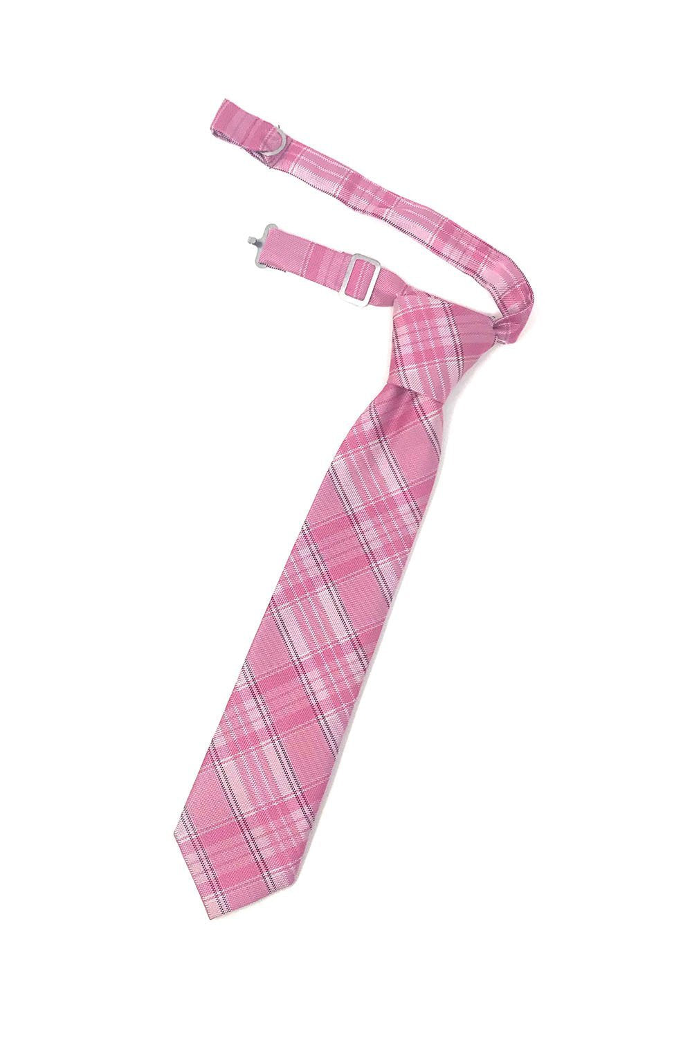Pink Madison Plaid Kids Necktie