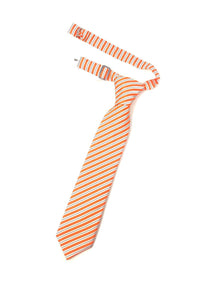 Orange Newton Stripe Kids Necktie