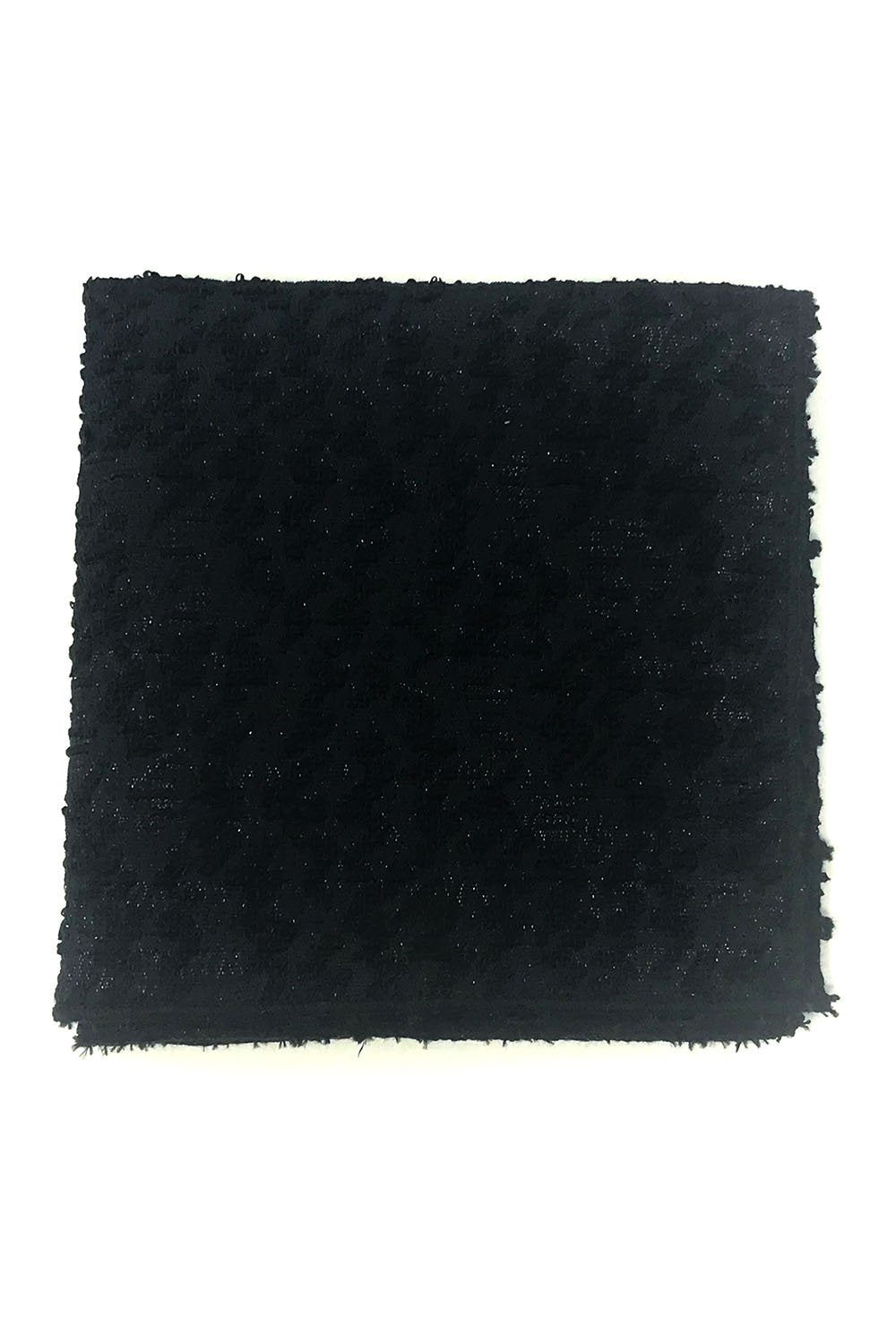 Black Laurent Pocket Square