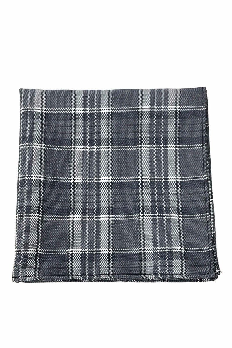 Grey Madison Plaid Pocket Square