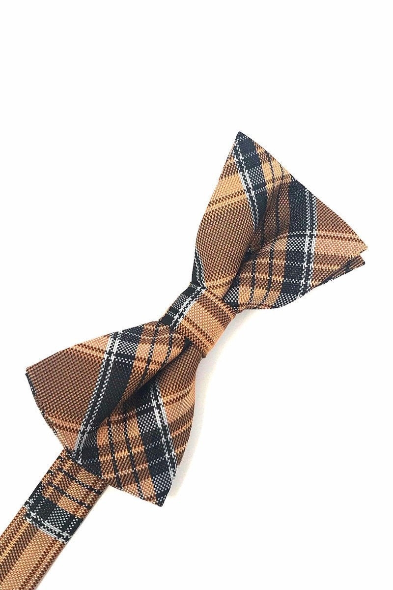 Orange Madison Plaid Bow Tie