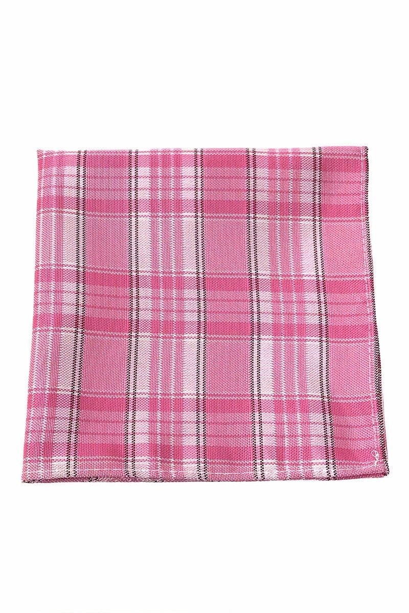 Pink Madison Plaid Pocket Square
