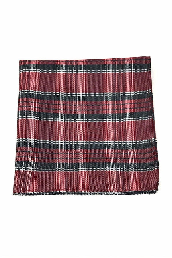 Red Madison Plaid Pocket Square