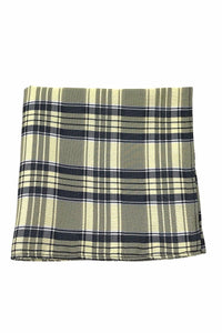 Yellow Madison Plaid Pocket Square