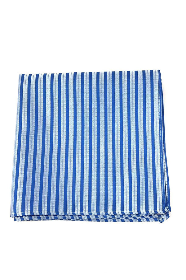 Blue Newton Stripe Pocket Square