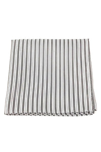 Grey Newton Stripe Pocket Square