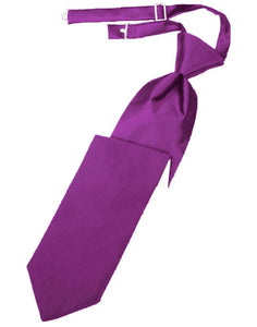 Cassis Luxury Satin Kids Necktie