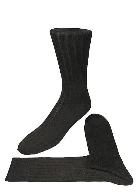 Charcoal Ribbed Kids Formal Socks
