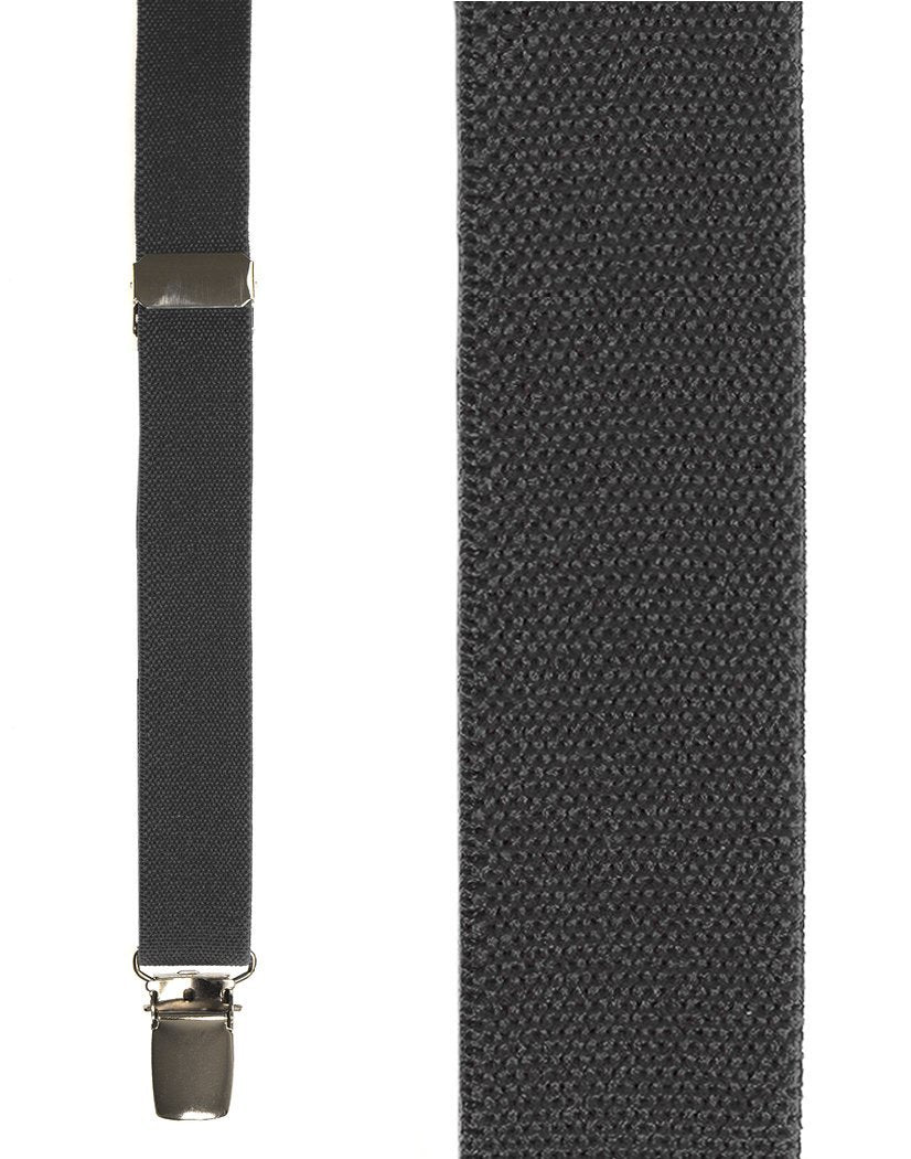 Kids Dark Grey Oxford Suspenders