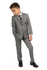 """Jax"" Kids Light Grey Suit 5-Piece Set"