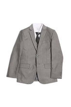 "Load image into Gallery viewer, ""Jax"" Kids Light Grey Suit 5-Piece Set"